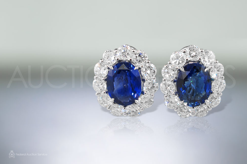10.28ct Matching Sapphire Earrings sold for $30,000
