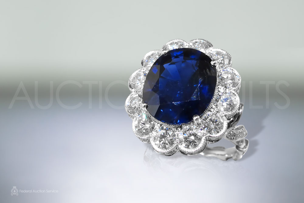 8.30ct Unheated Sapphire Ring sold for $79,000