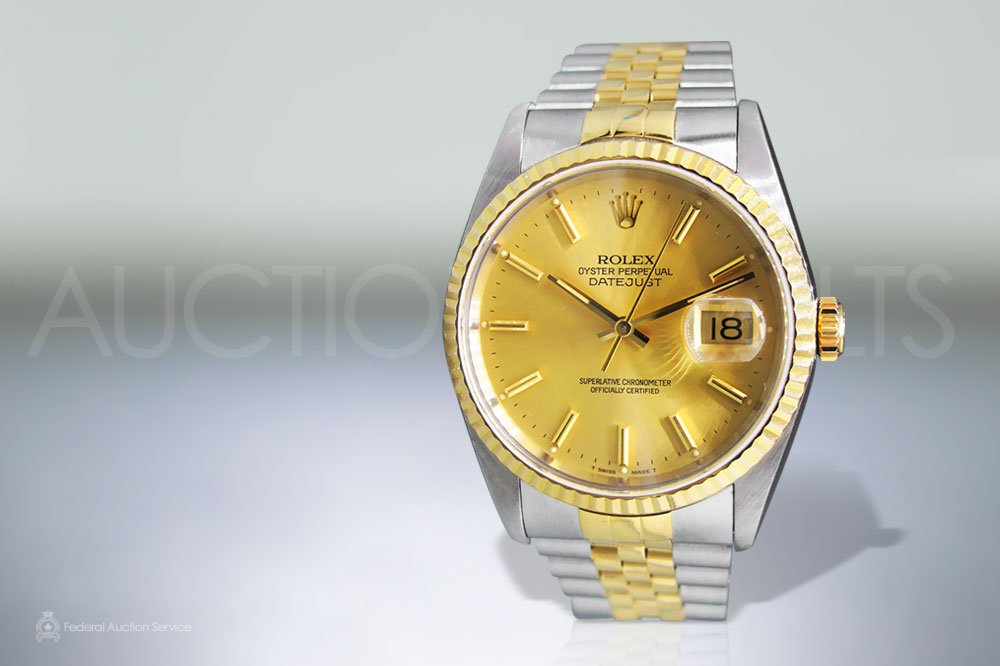 Men's Stainless Steel/18k Yellow Gold Rolex Datejust Automatic Wristwatch sold for $5,000
