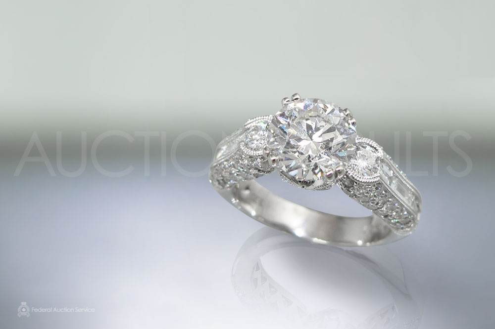 Lady's 18k White Gold 2ct Diamond Ring sold for $26,000