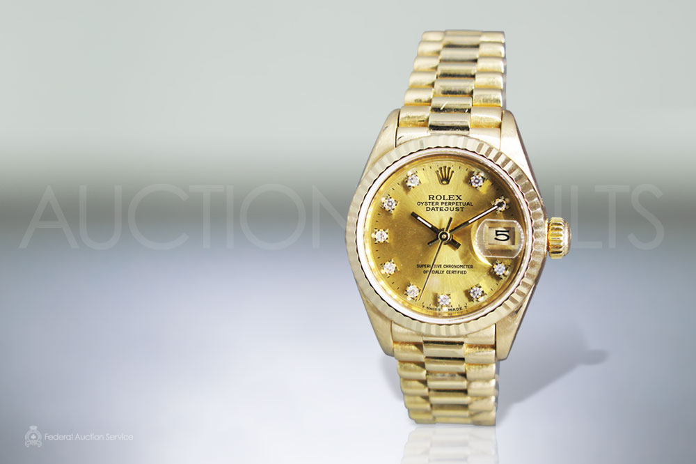 Lady's 18k Yellow Gold Rolex Datejust Automatic Wristwatch sold for $12,000
