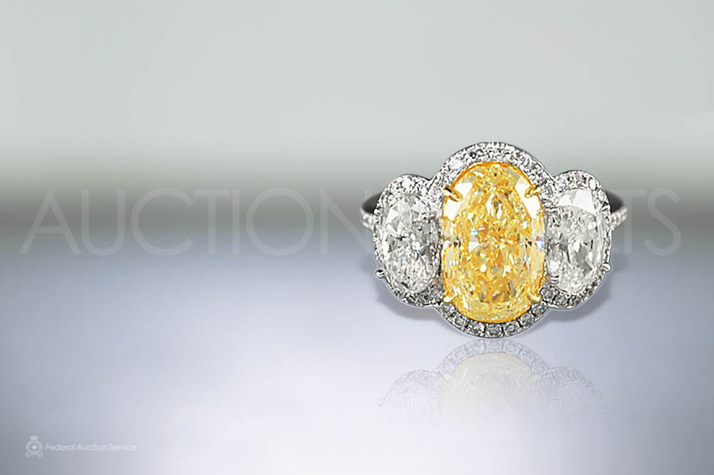 3.5ct Canary Yellow Diamond Ring sold for $46,000